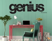 Genius Aristotle Quote vinyl wall decal - dorm room or classroom decor
