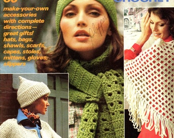 McCall's Accessories Knit and Crochet Vintage 1970s Magazine 1975