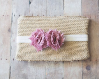 Girls Headband, Newborn Headband, Rose Headband, Baby Headband, Shabby Chic Flower Headband, Photography Prop, Baby Hair Accessories