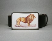Belt Buckle Lion Unique Gift for Men or Women