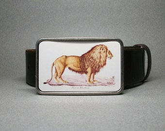 Belt Buckle Lion Unique Gift for Men or Women