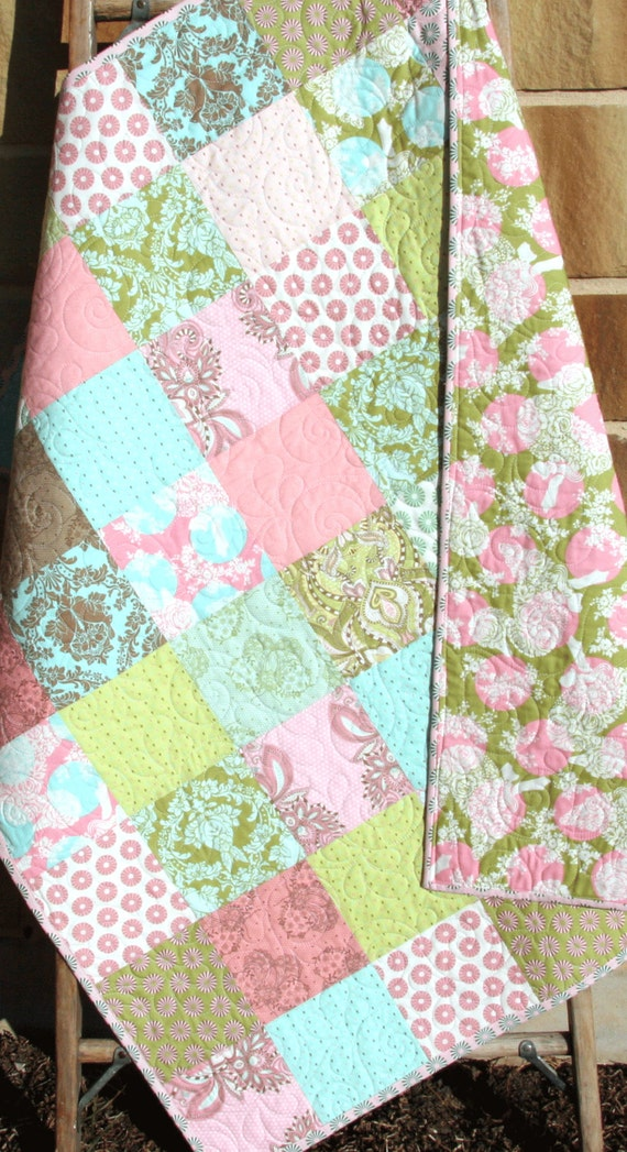 Sale Shabby Chic Quilt Baby Girl Patchwork By