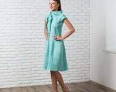 Mint felted dress felted wool, felting wool, fall autumn fashion, party clothing, bridesmaid wedding idea, ooak