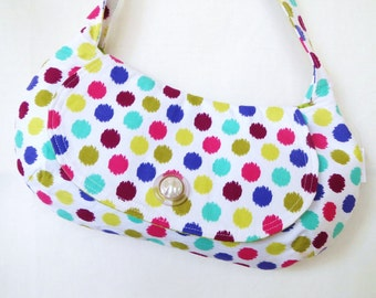 Purse, Handbag, Handmade Purse, Tote bag, Women's Purse, Polka Dot Purse