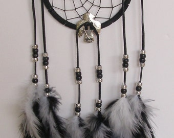 SALE! Black & White 5 Inch Ring Thunderbird Concho Dream Catcher