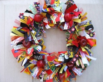 Back to School Wreath, Teacher Gifts, Classroom Wreath, School Theme Decor, Classroom Decoration, Teacher Appreciation, Teacher Room Decor
