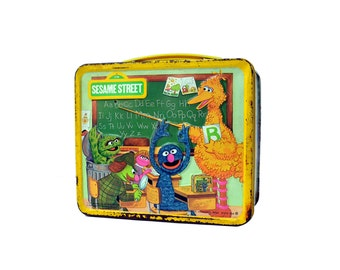 Vintage 1979 Sesame Street Lunch Box, Sesame Street Tin Aladdin Lunch Box