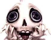 Halloween Skull Ornament - Halloween Decoration - Skeleton Ornament