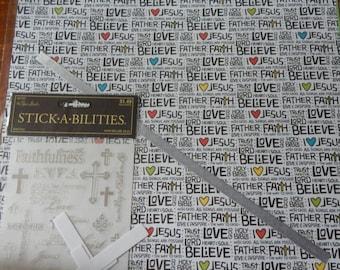 12x12 religious christian faith scrapbook page kits