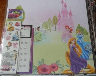 12x12 Disney Princess Rapunzel Ariel scrapbook page kits