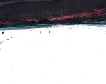 Original minimalist abstract skyscape landscape painting - Sky one-wrath