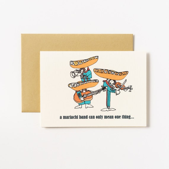 Mariachi Band Party Time Greeting Card