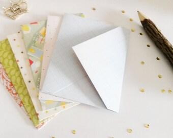 set of 6 A2 envelopes, handmade envelopes, sobres, pattern envelopes, penpal supplies, snail mail supplies, snail mail, envelopes,