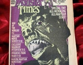 RESERVED The Monster Times 1974 No 31 All Martian Issue Bradbury Invaders From Mars Comics War Of The Worlds Three Stooges H G Welles Horror