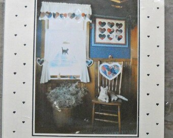 Quick Crazy Hearts Quilt Pattern #108, by Country Threads, Vintage 1984