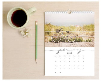 2016 Calendar, beach calendar, wall calendar, photography calendar, art calendar, ocean calendar, photography, beach house decor