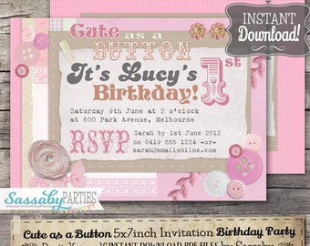 Bubbles Invitation INSTANT DOWNLOAD Editable Printable - Birthday invitation images download