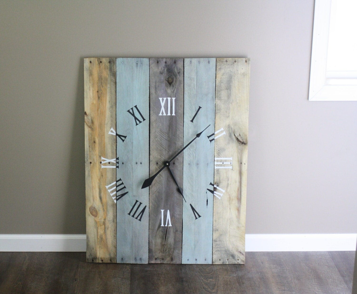 Large rectangular 36 by 26 wall clock rustic zoom amipublicfo Image collections