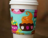 Reversible Coffee/Tea Cozy Sleeve, Thermally Insulated - Sweet Treats by Micheal Miller