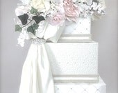 Lace and Soft Pastel Wedding Card Holder, Wedding Card Box,  Secured Lock Wedding Card Box,  Wedding Card Box