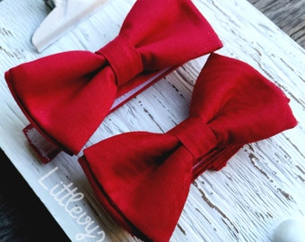 red bowtie for boys, solid red bow tie, satin bow tie, wine red bow tie, ring bearer, ties for baby