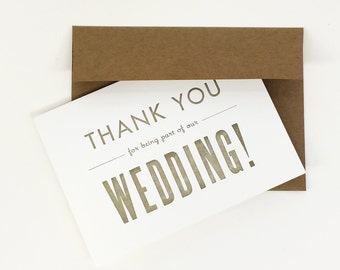Thank You Wedding Cards - Priest Thank you Card, Officiant Thank You For Marrying Us Card, Wedding Day Cards, Thank you Card