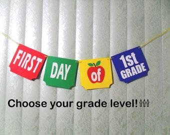 First Day of School Banner, First Day Banner, First Day of Grade, First Last Day of School, Double Sided Banner, School Banner, Teacher Prop