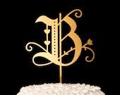 Wedding Cake Topper - Monogram Cake Topper for Wedding Cake