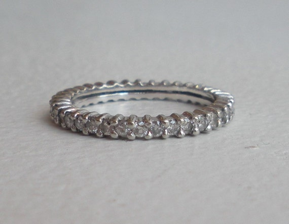Diamond Eternity Band - Wedding Band - 14k Prong set