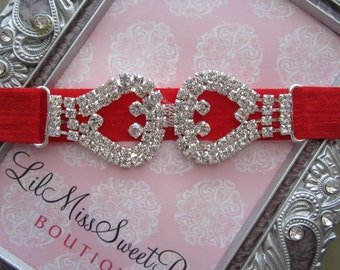 Christmas Headband, red and silver, perfect for all ages