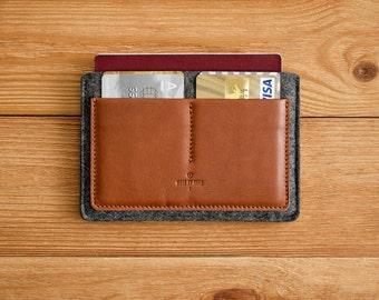 Passport Wallet, Leder Passport Wallet, Reisebrieftasche, Passport Case, Leder Passinhabers dokumentieren Brieftasche / / Gewohnheit (braun/dunkel fühlte)