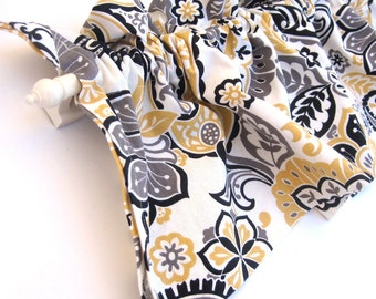 RANAE Valance Curtains Yellow White Black Paisley Flowers 44 inches wide Kitchen Window Valance Curtain Bay Window Panel Eva Clements Banana