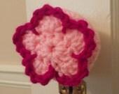 Pink and Fuchsia Flower Door Knob Cozy
