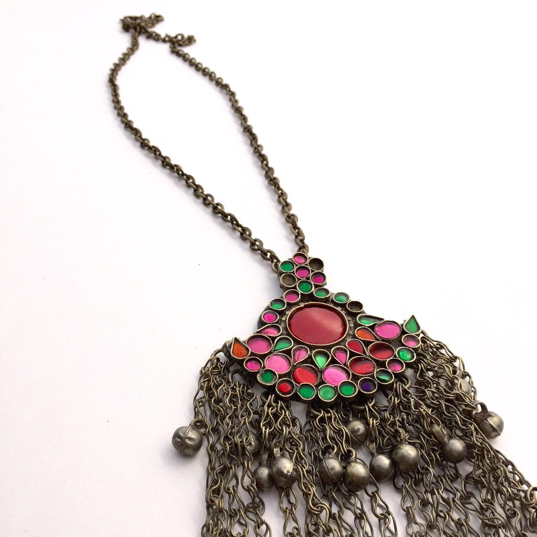 Choker Necklace Etsy: Boho Necklace Bohemian Jewelry Vintage Kuchi Necklace
