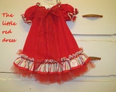 Little Red Toddler dress
