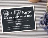 Instant Download - Diapers and Beer Party - Chalkboard - Shower, or Party Invitation, Custom Printable