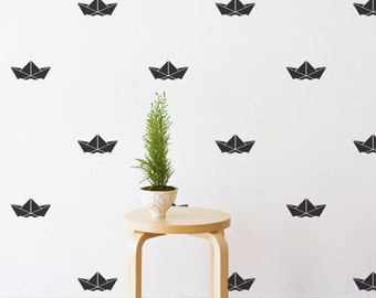 Paper Boat | Removable Wall Decal & Sticker for Home, Office, Nursery | LSB0239VCC-S