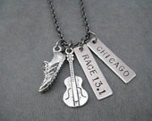 ROCK 'n' ROLL RACE 13.1 Custom Race Pendant - Your Race Name - Running Jewelry - Half Marathon Running Necklace on 18 inch gunmetal chain