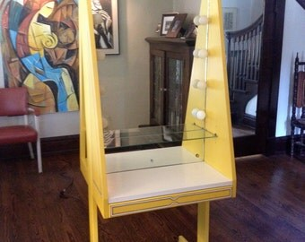 Backstage Style Lighted Makeup Mirror Vanity and Bulletin Board