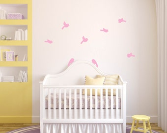 nursery decals - birds decal - vinyl wall decal - bird set - wall decal - children decals
