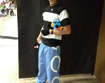 Team Aqua Cosplay Pants and Bandana - Pokemon Ruby/Sapphire Version
