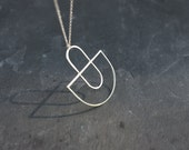 Hammered Arcs Necklace