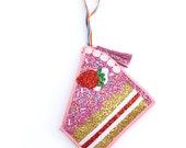 Glitter Cake Slice Clutch Handbag - LIMITED EDITION
