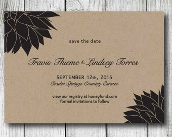 Save The Date Invitation - Save the Date Card - DIY Printable Save the Date Invite