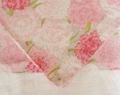 Handmade Pink Carnations Pillowcase, Standard Size Pillowcase