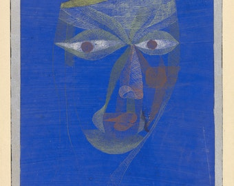 20th Century Expressionism:  Paul Klee Print Reproduction -  Portrait of an Oriental, (Bildnis eines Asiaten), 1924.  Fine Art Reproduction.