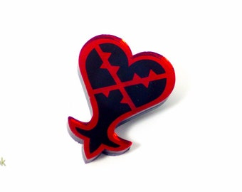 Heartless Pin from Kingdom Hearts - Laser Cut