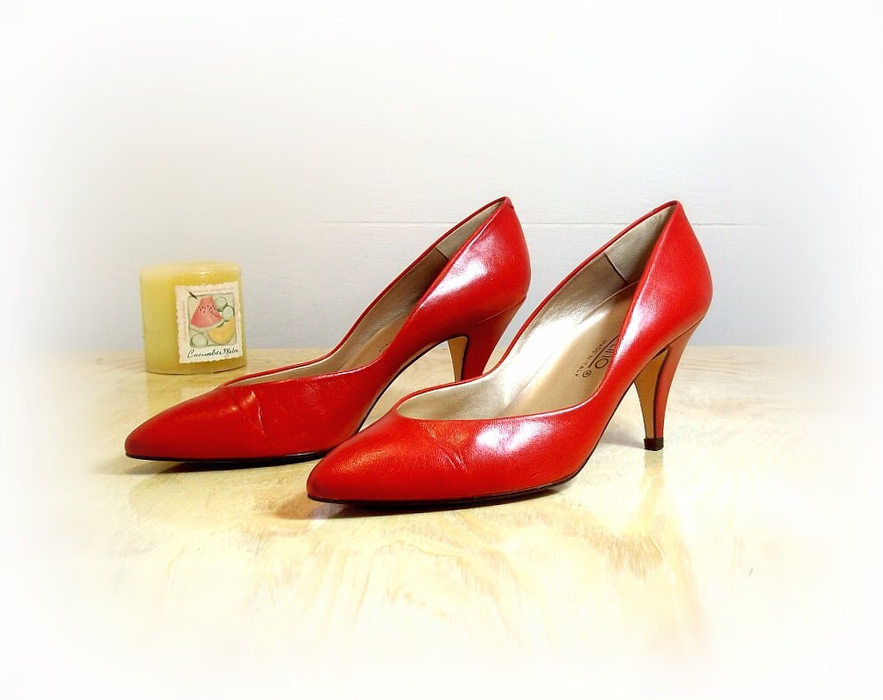 italian leather high heels pumps shoes by