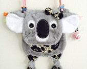 Koala Bear Baby Tag Security Blanket Lovey Pacifier Toy Friend