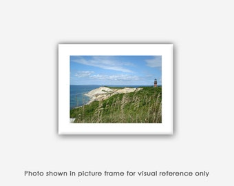Aquinnah Lighthouse Gay Head Cliffs Martha's Vineyard Art Photos, Prints, Photographs, Wall Art, Blank Photo Greeting Cards, Note Cards